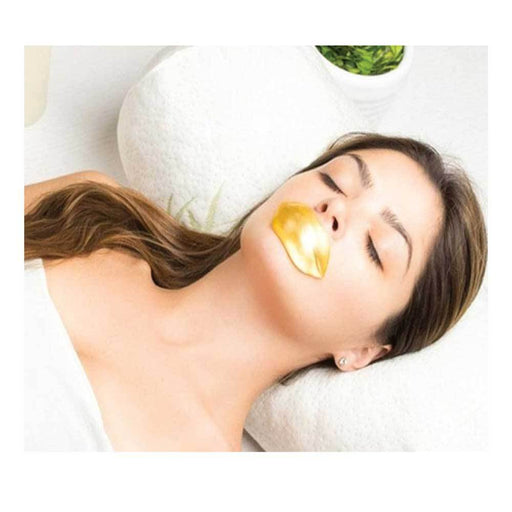 Gold Collagen Lip Mask Gel Plump Anti Ageing Wrinkle Moisturise Hydrating Pads-Gold-ozdingo