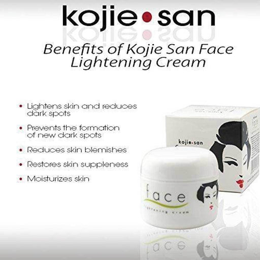 Kojie Face Lightening Cream 30g Skin Whitening Brightening Kojic Acid Dark Spots-Kojie San-ozdingo