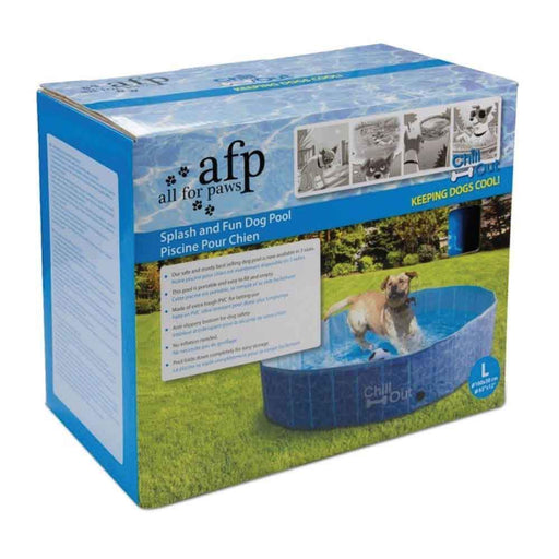 L Dog Swimming Pool Pet Chill Out Plastic Puppy Bath Splash Fun All For Paws-All For Paws-ozdingo