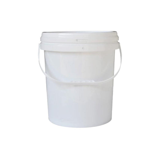 Plastic White Buckets Handle Lid 2L 5L 10L | Small Large Food Grade Storage Pail-Eco Storage-ozdingo
