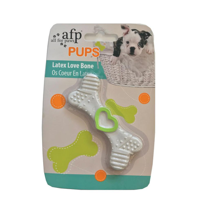 Puppy Chew Bone Toy Latex Puppies Teething Biting Chewing Dog Toy White AFP-All For Paws-ozdingo