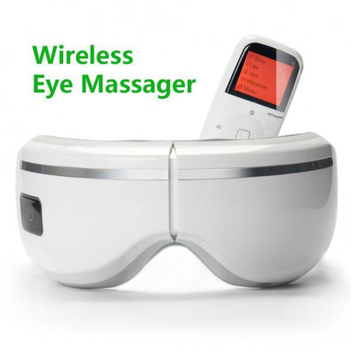 Eye Care Massager Rechargeable | Pressure Vibration Heat Music Remote Foldable, Massagers, Puli Massagers - ozdingo