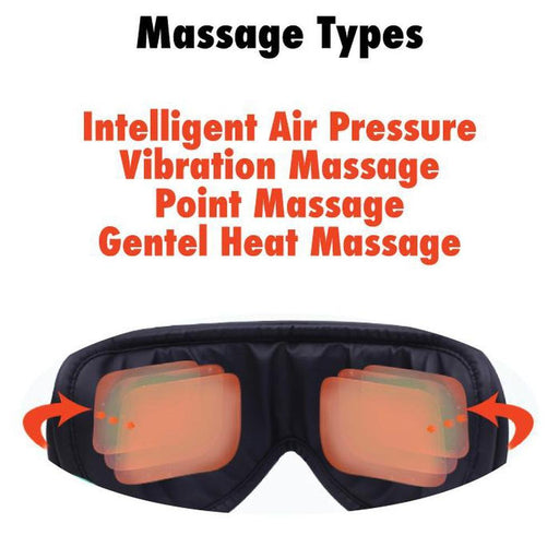 Eye Care Massager Rechargeable | Pressure Vibration Heat Wireless Foldable, Massagers, Massagers - ozdingo