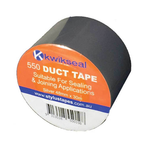 Silver Duct Tape | 48mmx30mx130um Roll | 550 Stylus Joining Sealing PVC Adhesive-Eco Bags-ozdingo