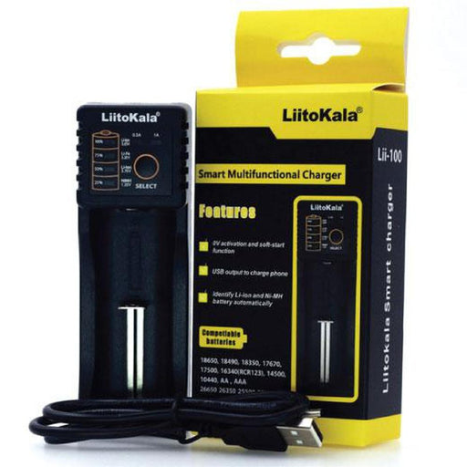 Smart USB Battery Charger Lithium Ion Rechargeable LiitoKala Nimh Nicd Batteries-Chargers-LiitoKala-ozdingo