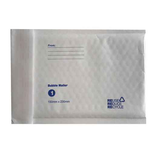 Tempest Bubble Mailers Envelopes White Kraft Paper Padded Eco Mail Postage Bags-Tempest-ozdingo