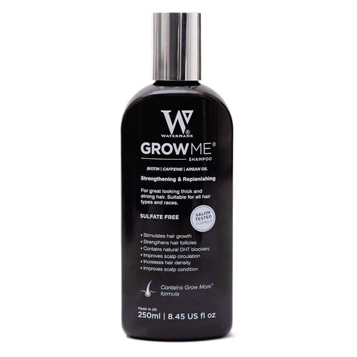 Watermans Grow Me Hair Growth Shampoo 250ml DHT Blocking Biotin Argan Anti Loss-Watermans-ozdingo