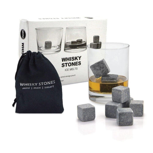 Whiskey Stones Ice Melts | 9 Reusable Natural Marble Chilling Scotch Rocks Cubes-Whisky Stones-Ninghai Marsun-ozdingo