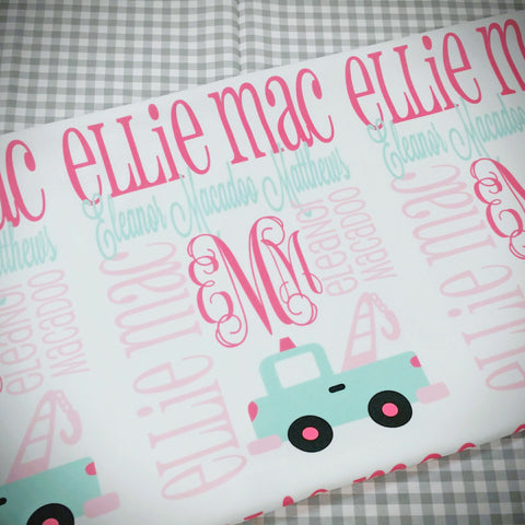 Personalized Baby Blanket- Monogrammed Baby Name Blanket - Personalized Baby Gift - Photo Prop