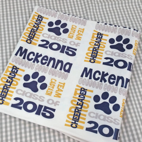Graduation Gift Personalized Throw Blanket Class of 2016 Gifts for Him Her College Graduate Present