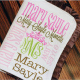Personalized Baby Blanket Ruffle Minky Baby Blanket Monogrammed Blanket Name Blanket Baby Shower Gift Photo Prop Birth Announcement