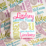 Personalized Blanket, Monogrammed Throw Blanket, Name Blanket, Personalized Wedding Gift