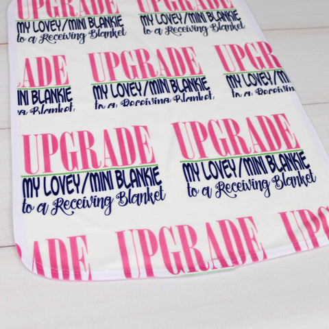 Upgrade MINI BLANKIE to Full Size Personalized Baby Receiving Blanket