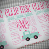 Personalized Baby Blanket Monogram Baby Blanket Name Receiving Blanket Personalized Baby Shower Gift Photo Prop Birth Announcement