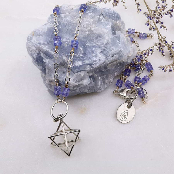 Merkabah Pendant Tanzanite Necklace main image | Breathe Autumn Rain Artisan Jewelry
