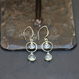 Waterfall - Swiss Topaz and Green (Prasiolite) Amethyst Earrings - BreatheAutumnRain