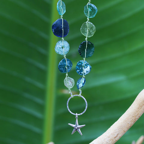 A Thousand Sandy Beaches - Sea Glass Starfish Necklace