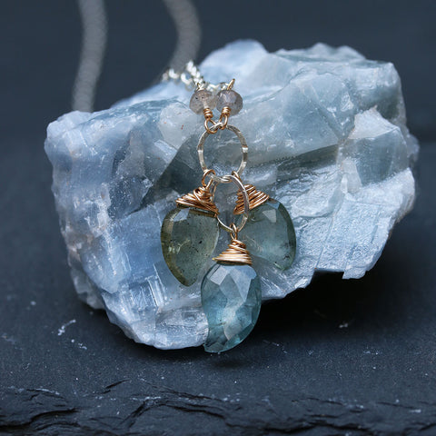 Aquamarine in My Dreams - Aquamarine Necklace