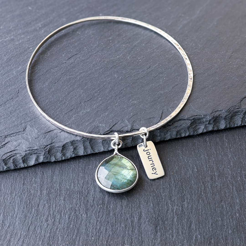 A Bangle of Wishes - Empowerment Word Love Charm Bracelet - Journey | BreatheAutumnRain