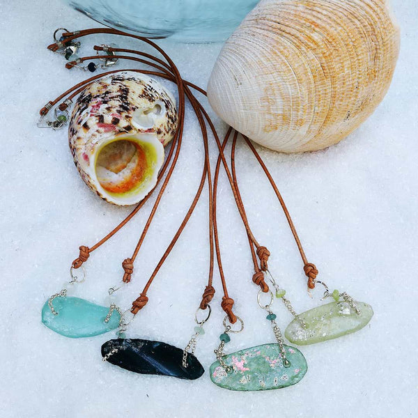 Beach Stroll - Sea Glass Necklace