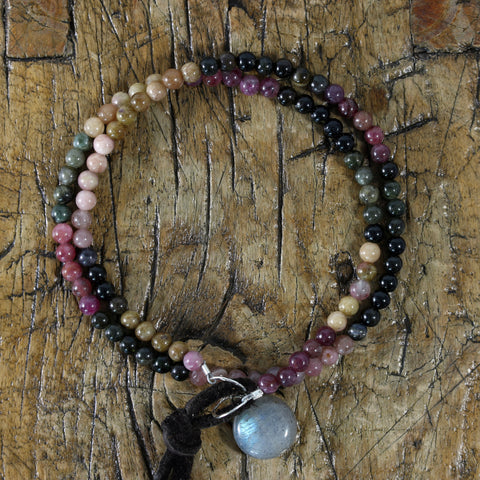 Shattuck - Double Wrap Multi Tourmaline Bracelet