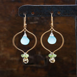 Dazzling Spectacle - Aqua Chalcedony Chandelier Earrings | BreatheAutumnRain