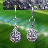 Lord Ganesha Om Sterling Silver Earrings - BreatheAutumnRain