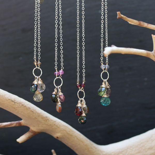 In Bloom - Tourmaline Cluster Necklace - Main Image | BreatheAutumnRain