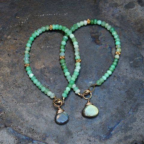 Meadow - Green Chrysoprase Bracelet