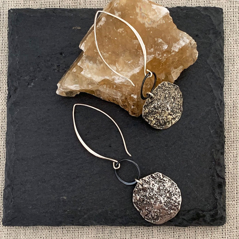 Repurpose-to-Dazzle - Eco-Friendly Recycled Sterling Silver Coin Earrings alt Image | Breathe Autumn Rain