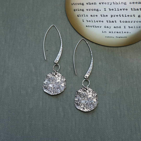 Repurpose-to-Dazzle - Eco-Friendly Recycled Sterling Silver Coin Earrings