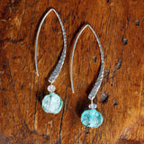 Salt and Sea - Distressed Roman Glass Earrings - Alt Image | BreatheAutumnRain