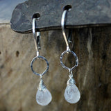Snow Drop - Moonstone Earrings - BreatheAutumnRain