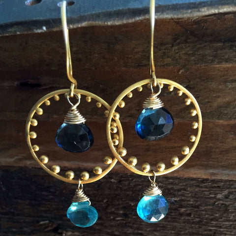 Earrings breatheautumnrain turks caicos shallow to deep apatite and london blue topaz earrings mozeypictures Gallery