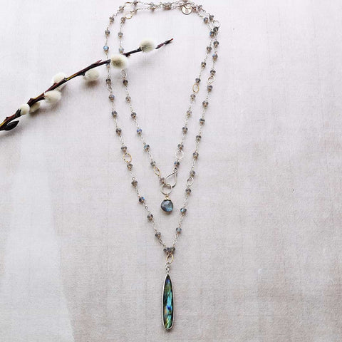 Stillness - Labradorite Double-Strand Necklace