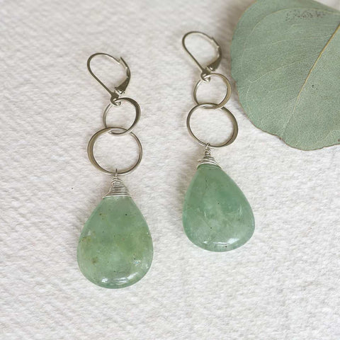 Raja - Turquoise and Citrine Earrings
