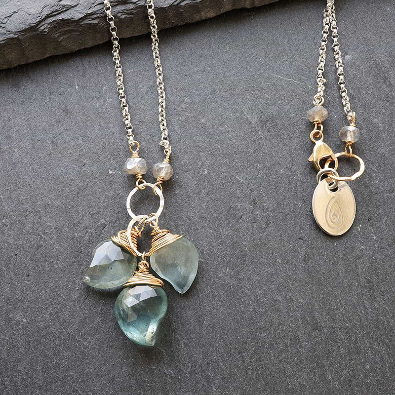 Aquamarine-in-My-Dreams Necklace alt image | Breathe Autumn Rain