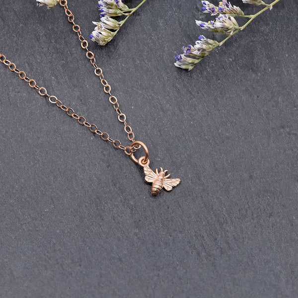 Bees Knees - Honey Bee Charm Necklace rose gold | Breathe Autumn Rain