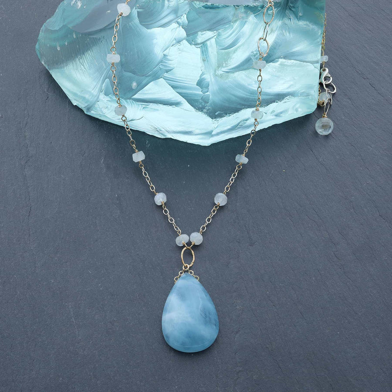 Big Blue Sky - Aquamarine Necklace main image | Breathe Autumn Rain Artisan Jewelry