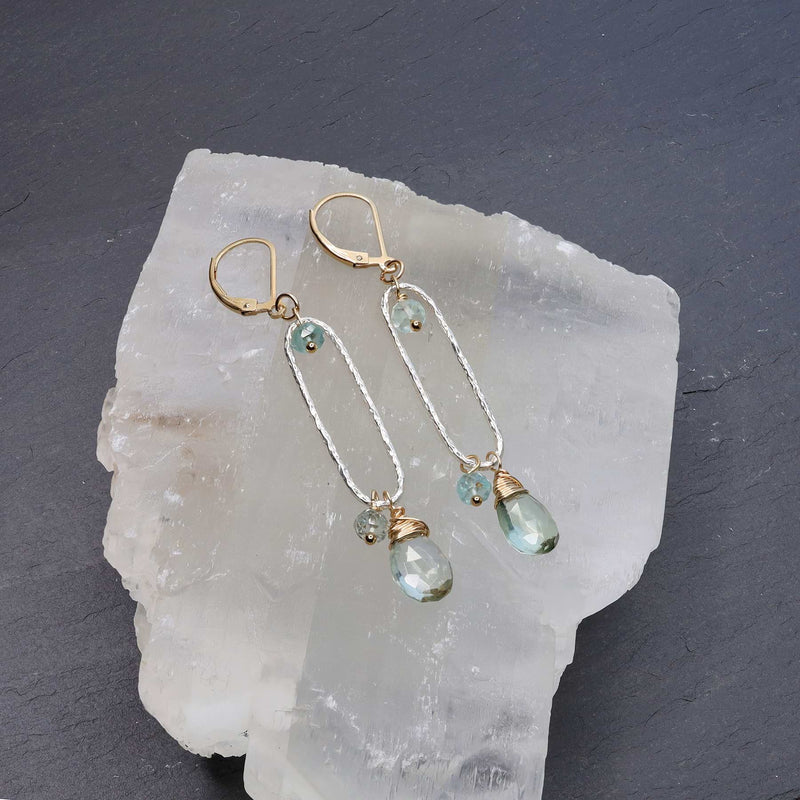 Brooklyn - Green Amethyst Drop Earrings main image | Breathe Autumn Rain Artisan Jewelry