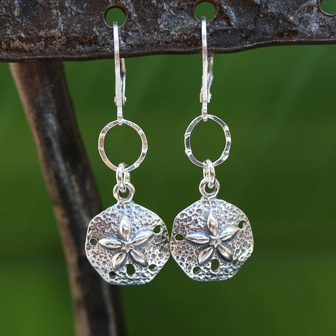 Cape Cod - Silver Sand Dollar Earrings