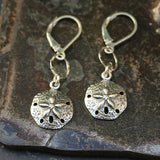 Cape Cod - Silver Sand Dollar Earrings - BreatheAutumnRain