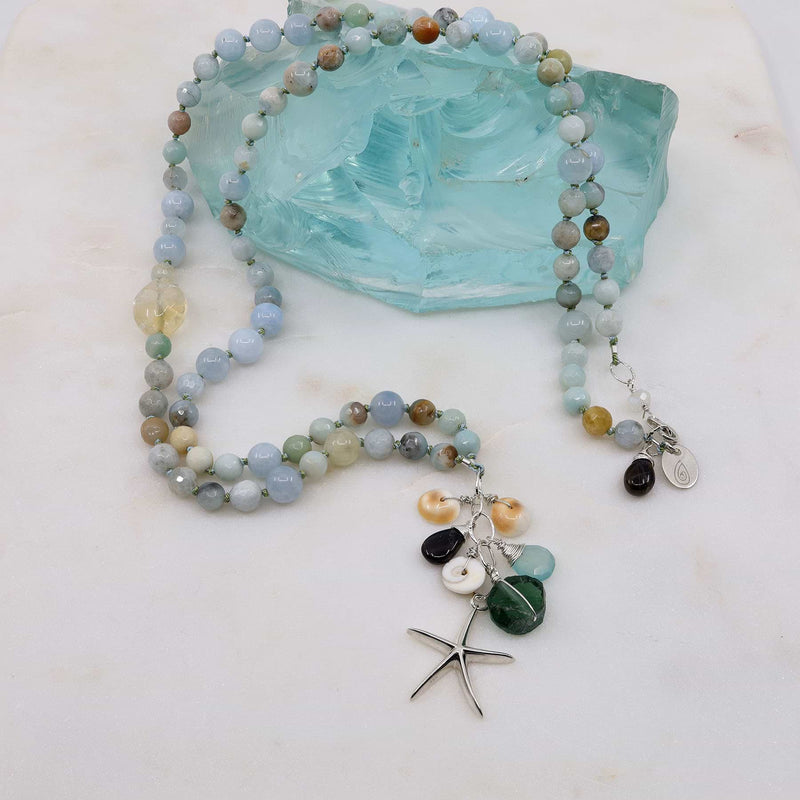 Cape Hatteras - Organic Aquamarine Necklace