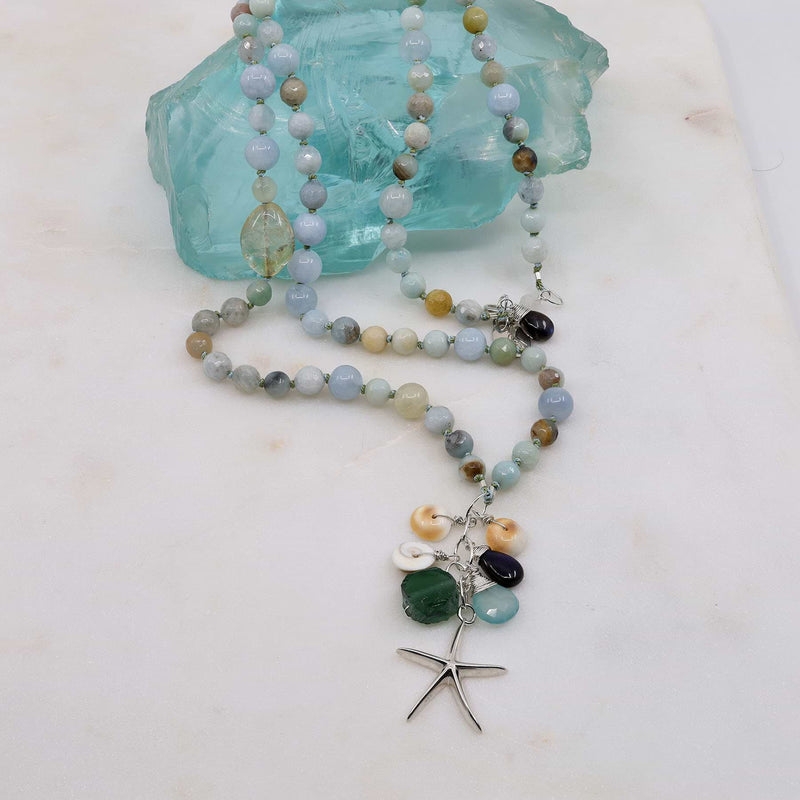 Cape Hatteras - Organic Aquamarine Necklace main image | Breathe Autumn Rain Artisan Jewelry
