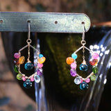 Carnivale - Multi-Gemstone Mixed Metal Earrings alt image | Breathe Autumn Rain Artisan Jewelry