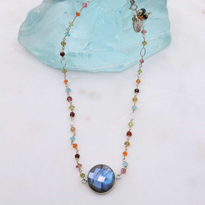 Harlequin - Labradorite Multi-Gemstone Necklace
