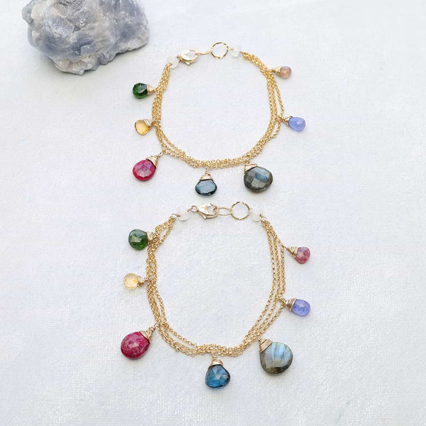 Dauphiné - Topaz Multi-Gemstone Gold Bracelet Main Image | Breathe Autumn Rain