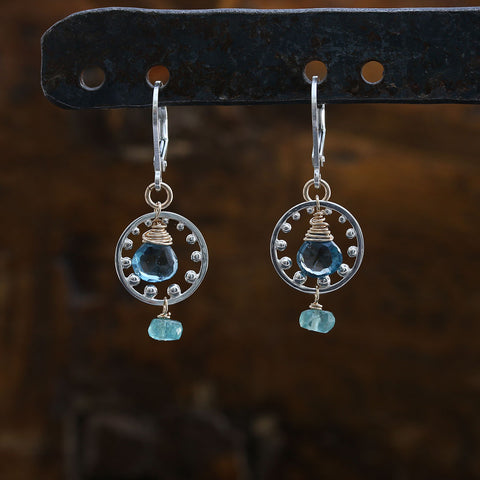 Heroine - London Blue Topaz Sterling Silver Chandelier Earrings