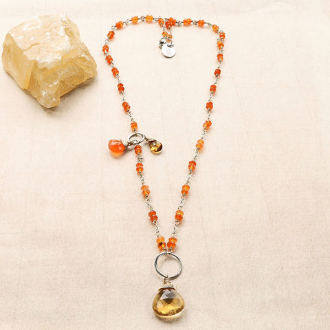 Orange Carnelian Necklace - Aren't you Glad it's Orange