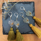 Queen Bee - Tassel Drop Earrings main image | Breathe Autumn Rain Artisan Jewelry